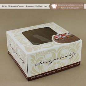Średnie opakowania na ciasto z tortem i ornamentem - Zdjęcie 3