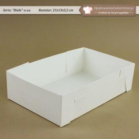 Białe opakowania na ciastka - 21x13x5,5cm - Zdjęcie 3