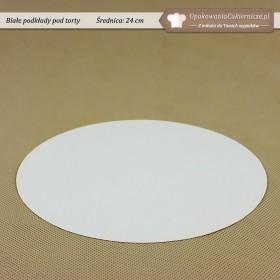 Białe podkłady do tortów - 24cm - Zdjęcie 1