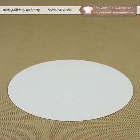 Białe podkłady pod tort - 18cm - Zdjęcie 1