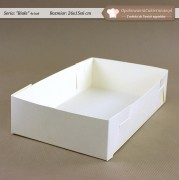 Białe pudełko na ciastka - 26x15x6cm - Zdjęcie 3