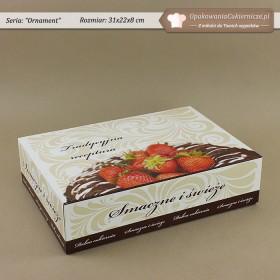 Duże prostokątne pudełka na ciastka z ornamentem - Zdjęcie 3