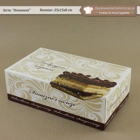 Prostokątne pudełka na ciasta z ornamentem - Zdjęcie 3
