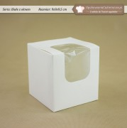 Białe pudełko na 1 muffinkę z okienkiem - Zdjęcie 1