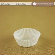 Biała papilotka do muffinek 45mm - Zdjęcie 1
