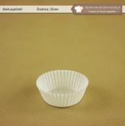 Białe papilotki do muffinek 35mm - Zdjęcie 1