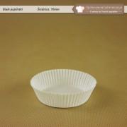 Duża biała foremka do muffinek 70mm - Zdjęcie 1