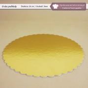 Grube złote krążki pod torty - fi26cm - Zdjęcie 1