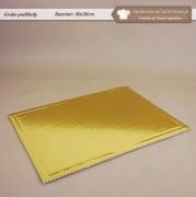 Złota tacka pod tort z tektury - 40x30cm - Zdjęcie 1