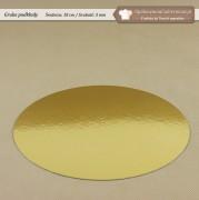 Gruby złoty podkład pod tort - 3mm