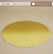 Zloty gruby podklad pod tort fi18cm