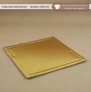 Gruba złota tacka pod tort - 25x25 cm - Zdjęcie 1