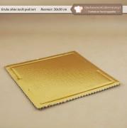 Gruba złota tacka pod tort - 30x30cm - Zdjęcie 1