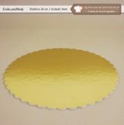 Gruby złoty podkład pod tort fi36cm